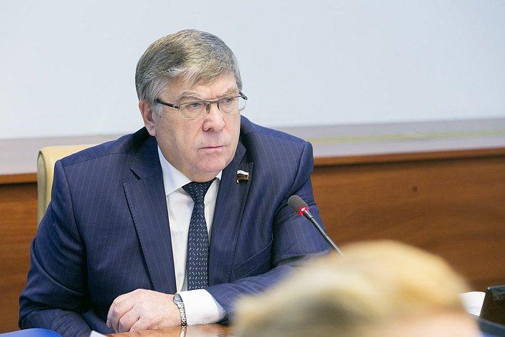 В. Рязанский Заседание Комитета Совета Федерации по социальной политике