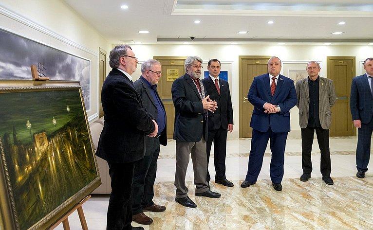 Открытие вСовете Федерации выставки «Смоленская стена», посвященной 80-летию Смоленского отделения Союза художников России