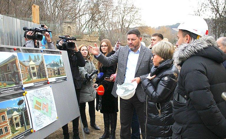 Председатель Совета Федерации Валентина Матвиенко осмотрела объекты социальной инфраструктуры города-курорта Кисловодска