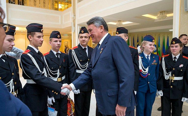 Юрий Воробьев иВиктор Новожилов встретились сюнармейцами вСовете Федерации