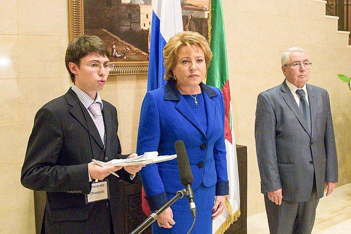 В. Матвиенко брифинг с журналистами Алжир 16
