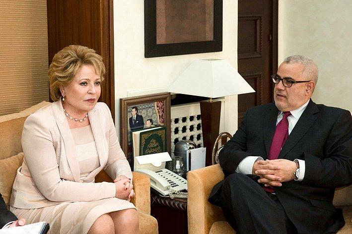 В. Матвиенко и премьер-министр Марокко