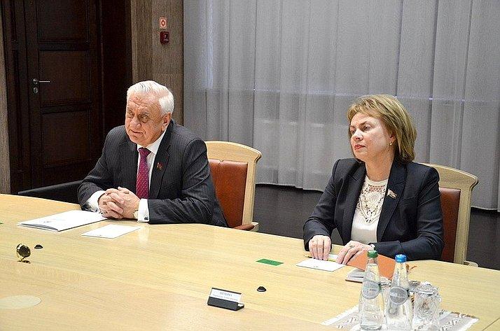 Встреча Ю. Воробьева сМ. Мясниковичем иМ. Щеткиной