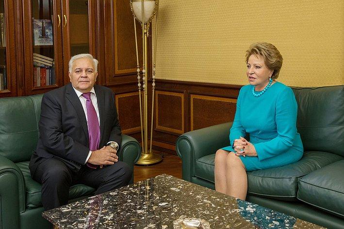 Встреча В. Матвиенко с Председателем Милли Меджлиса О. Асадовым