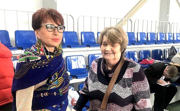 Т. Кусайко выступила перед участниками очередных Мурманских региональных соревнований понастольным спортивным играм среди людей сограниченными возможностями здоровья
