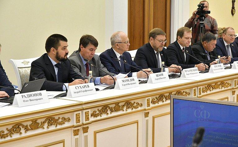 ВСамаре состоялось выездное заседание Комитетов Совета Федерации помеждународным делам ипоэкономической политике
