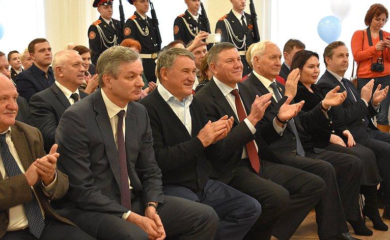 Торжественная церемония открытия здания кадетской школы вцентре «Корабелы Прионежья» вВытегорском районе Вологодской области