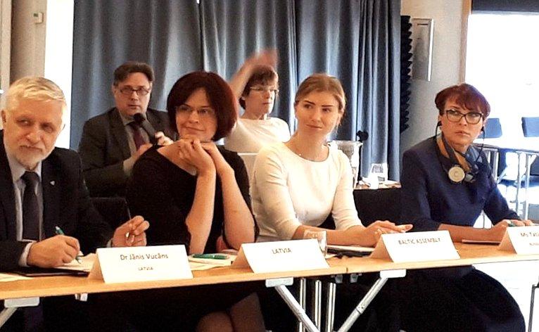 Т. Кусайко выступила назаседании Постоянного комитета Парламентской конференции Балтийского моря