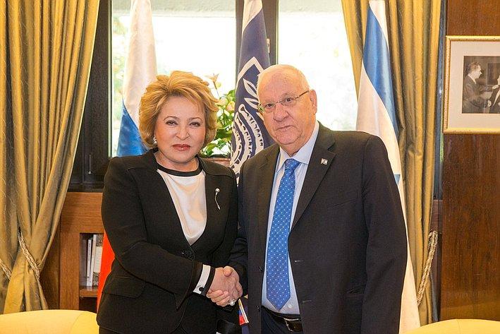 Встреча В. Матвиенко сПрезидентом Израиля