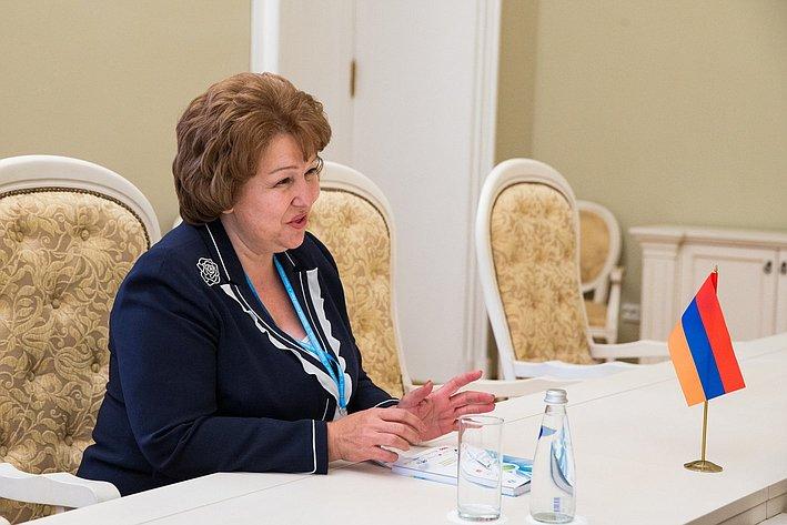 Встреча В. Матвиенко с делегацией Армении