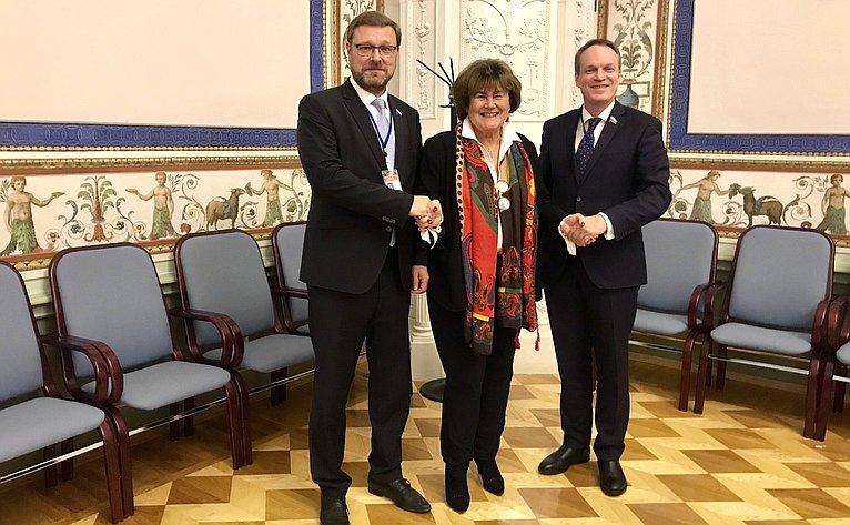 Константин Косачев, Жужанна Якаб иАлександр Башкин