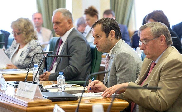 Заседание Экспертного совета поздравоохранению при Комитете СФ посоциальной политике