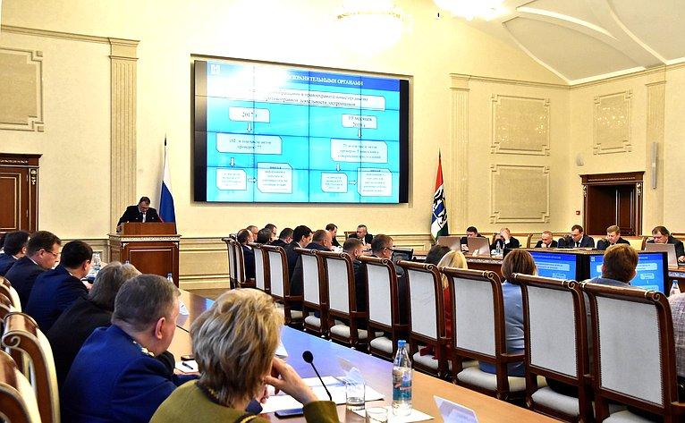 Расширенное совещание Временной комиссии СФ посовершенствованию правового регулирования всфере государственного контроля (надзора) имуниципального контроля вРФ