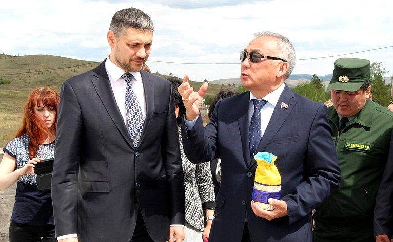 Баир Жамсуев посетил Дульдургинский район Агинского Бурятского округа