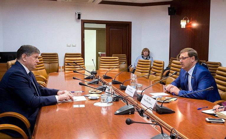 Встреча К. Косачева сЧрезвычайным иПолномочным Послом Республики Молдова А. Негуцем