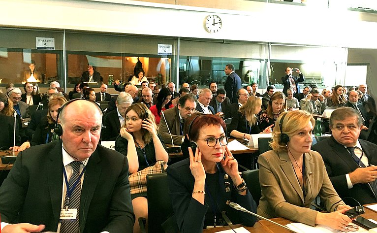 Делегация Совета Федерации принимает участие вработе зимней сессии ПА ОБСЕ