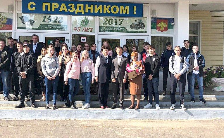 Дмитрий Шатохин провел встречу состудентами Коми республиканского агропромышленного техникума