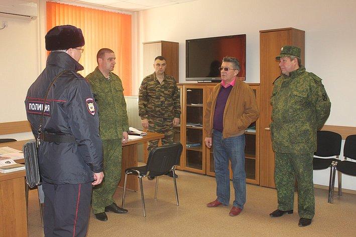 Визит В. Озерова в отряд специального назначения