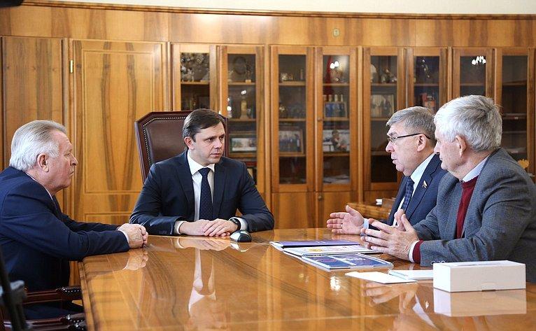 Встреча В. Рязанского сгубернатором Орловской области