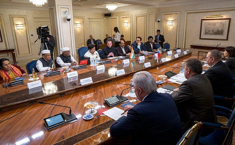 Встреча О. Мельниченко спарламентской делегацией штата Махараштра Республики Индии воглаве сПредседателем Законодательного совета штата Рамрадже Наиком Нимбалкаром