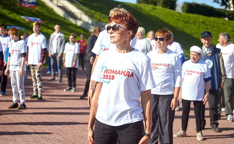 Татьяна Кусайко приняла участие вфизкультурно-массовом мероприятии «Золотая миля»