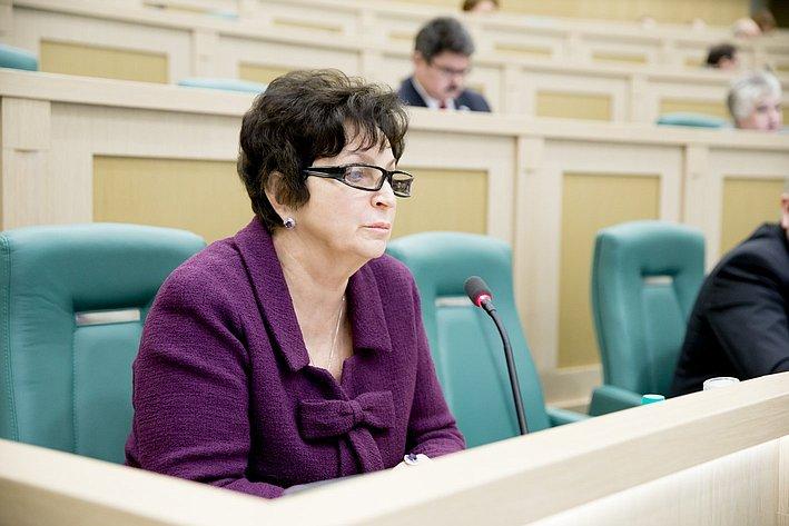 Е. Лахова 371-е заседание Совета Федерации