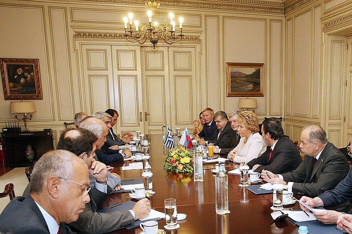16-09 Матвиенко Греция встреча с премьером