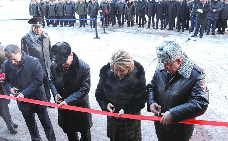 Церемония открытия комплекса зданий Управления МВД РФ поВасилеостровскому району Санкт-Петербурга