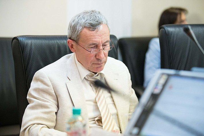 Заседание Комитета Совета Федерации по международным делам Климов