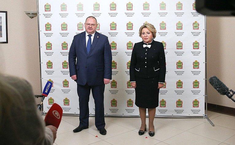 Брифинг Олега Мельниченко иВалентины Матвиенко