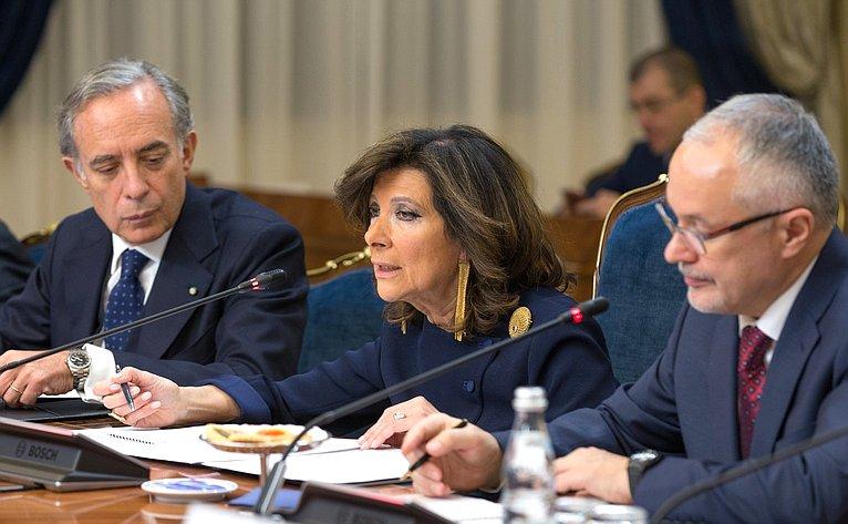 Встреча Председателя СФ Валентины Матвиенко сПредседателем Сената Итальянской Республики Марией Элизабеттой Альберти Казеллати