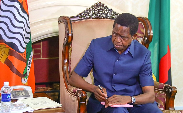 Президент Республики Замбия Эдгар Лунгу