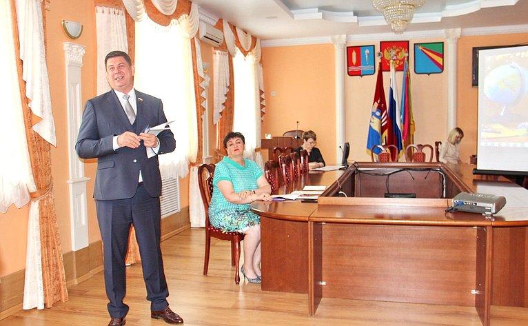 В. Смирнов посетил Заволжский муниципальный район