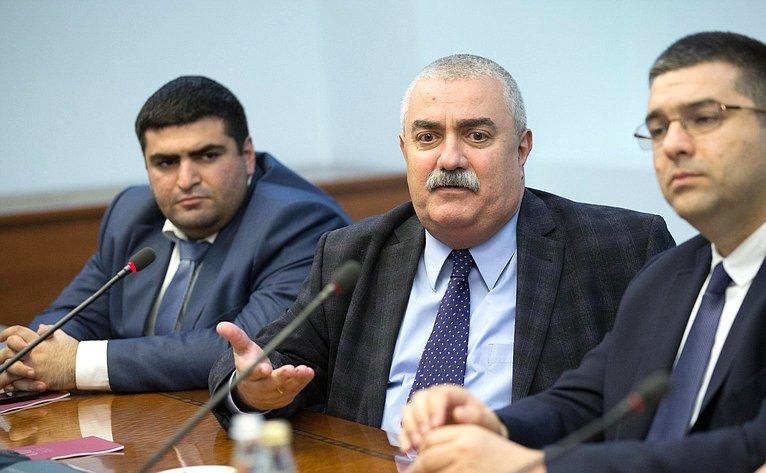 Встреча В. Джабарова сармянскими журналистами