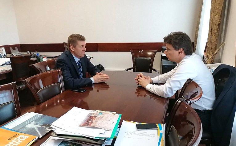 Андрей Шевченко посетил Оренбургскую область срабочим визитом