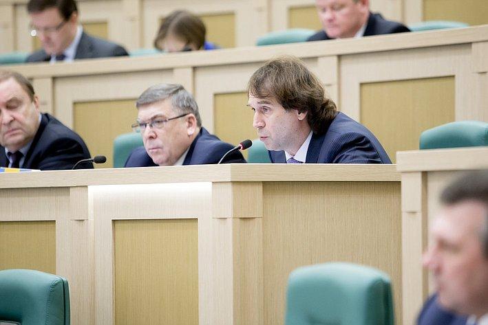 С. Лисовский 371-е заседание Совета Федерации