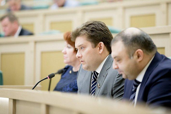 370-е заседание Совета Федерации Н. Журавлев