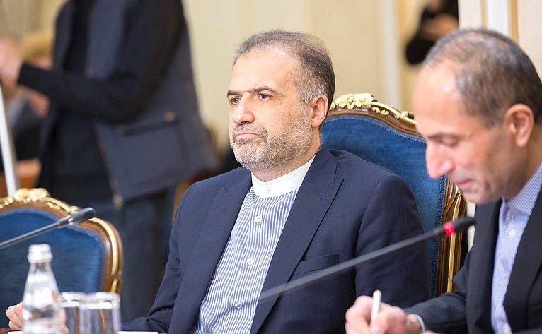 Встреча И. Умаханова сЧрезвычайным иПолномочным Послом Исламской Республики Иран вРФ Каземом Джалали