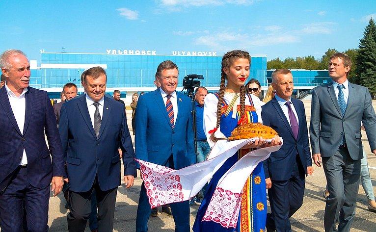 Открытие после реконструкции международного аэропорта имени Н.М. Карамзина