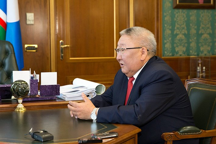 Визит делегации СФ в Якутию Борисов