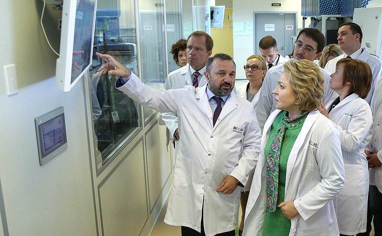 Валентина Матвиенко посетила вСанкт-Петербурге биотехнологическую компанию ЗАО «БИОКАД» (BIOCAD)