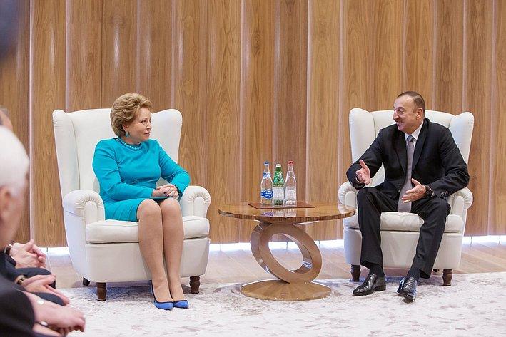 В. Матвиенко и Ильхам Алиев-2