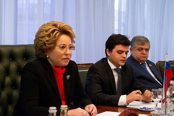 Встреча Председателя Совета Федерации Валентины Матвиенко с Президентом Федерального совета Австрийской Республики Райнхардом Тодтом  3