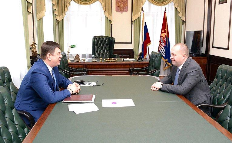 В. Смирнов обсудил сдепутатами Ивановской областной Думы вопросы законодательного обеспечения национальных проектов