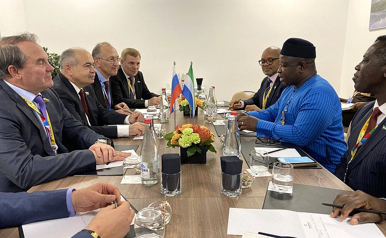 Встреча делегации Совета Федерации сПрезидентом Республики Сьерра-Леоне Джулиусом Маада Био