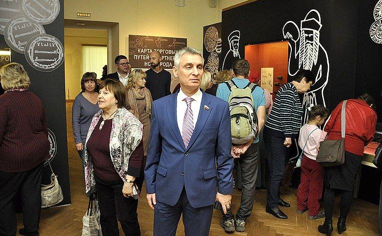 Сергей Фабричный принял участие воткрытии выставки «Новгород иГанза: окно вЕвропу»