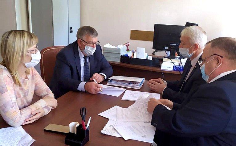 Валерий Рязанский врамках работы врегионе встретился сруководством обособленного подразделения «КурскАтомЭнергоСбыт»