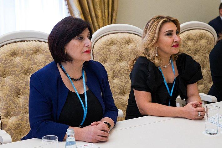 В. Матвиенко провела встречу с главой Комитета по проблемам семьи, женщин и детей Азербайджанской Республики И. Гусейновой