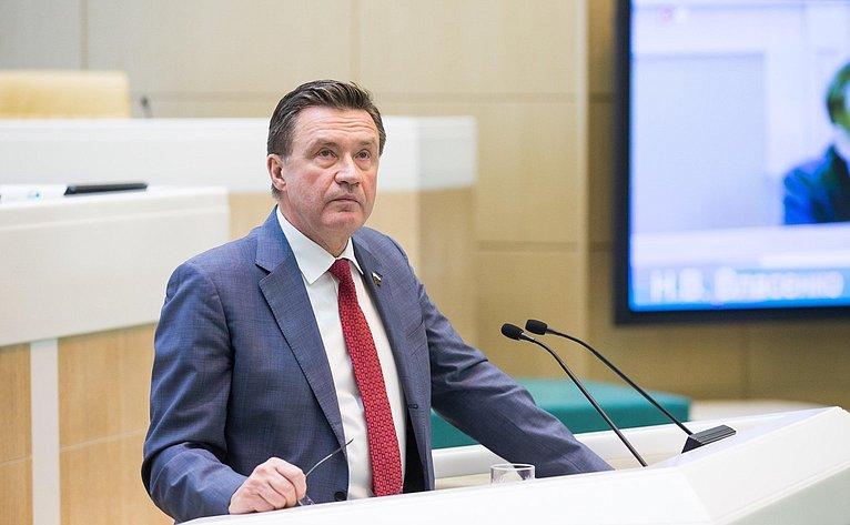 С. Рябухин на386-м заседании Совета Федерации