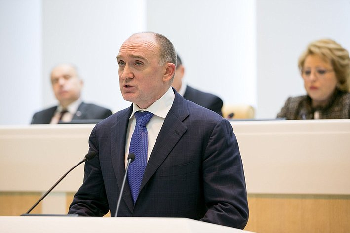Дубровский на385-м заседании Совета Федерации
